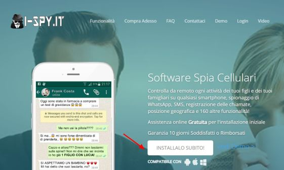 spiare whatsapp ispy
